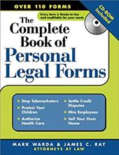 Complete Book of Personal Legal Forms [With CD-ROM] - Warda, Mark / Ray, James C.