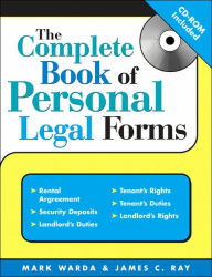 Complete Book of Personal Legal Forms with CD, 3E - Mark Warda