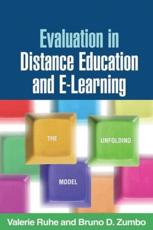 Evaluation in Distance Education and E-Learning - Valerie Ruhe, Bruno D. Zumbo