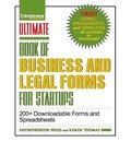 Ultimate Book of Legal and Startup Forms - Entrepreneur Press