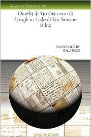 Omelia Di San Giacomo Di Sarugh In Lode Di San Simone Stilita - Italo Pizzi