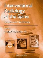 Interventional Radiology of the Spine: Image-Guided Pain Therapy
