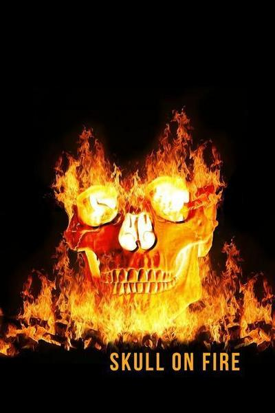 Skull on Fire: Blank Line Journal - Mary Lou Darling