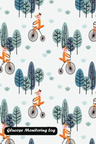 Glucose Monitoring Log: Fox Ride a Vintage Bicycle in the Forest Cover - Shamrock Logbook