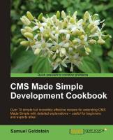 CMS Made Simple Development Cookbook