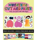 Easy Art and Craft with Paper (20 full-color kindergarten cut and paste activity sheets - Monsters) - James Manning