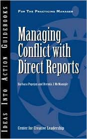Managing Conflict With Direct Reports - Barbara Popejoy, Brenda J. McManigle