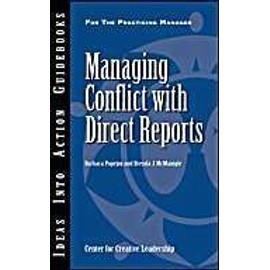 Managing Conflict with Direct Reports - Barbara Popejoy