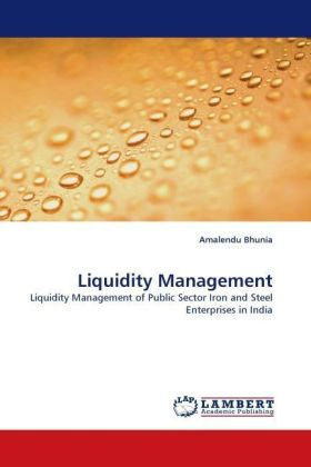 Liquidity Management - Liquidity Management of Public Sector Iron and Steel Enterprises in India - Bhunia, Amalendu
