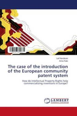 The case of the introduction of the European community patent system