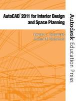 AutoCAD 2011 for Interior Design and Space Planning