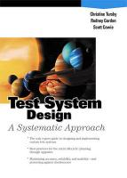 Test System Design: A Systematic Approach (Paperback)