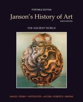 Janson's History of Art: The Ancient World, Portable Edition Book 1 (Myartslab)