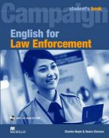 English for Law Enforcement Student's Book Pack: Student Book with CD-ROM (English Law Enforc)