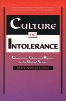 Culture of Intolerance: Chauvinism, Class, and Racism in the United States (Revised)