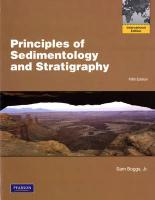 Principles of Sedimentology and Stratigraphy. Sam Boggs