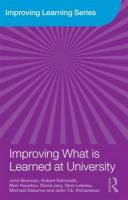 Improving What is Learned at University: An Exploration of the Social and Organisational Diversity of University Education (Improving Learning, Band 10)
