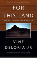 For this Land: Writings on Religion in America
