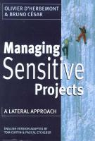 Managing Sensitive Projects: A Lateral Approach