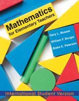Mathematics for Elementary Teachers: A Contemporary Approach.