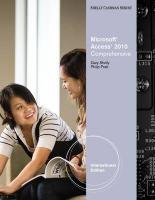 Microsoft Access 2010: Comprehensive, International Edition