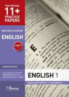 11+ Practice Papers, English, Multiple Choice: Test 1, Test 2, Test 3, Test 4 (The Official 11+ Practice Papers)