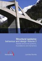 Structural Systems: Behaviour and Design Volume 2 L. Stavridis Author