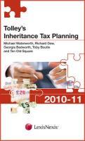 Tolley's Inheritance Tax Planning 2010-11 - Waterworth, Michael