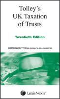 Tolley's UK Taxation of Trusts - Hutton, Matthew