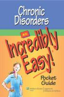Chronic Disorders: An Incredibly Easy! Pocket Guide
