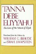 Tanna Debe Eliyyahu: The Lore of the School of Elijah