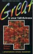 Great is Your Faithfulness (Lament)