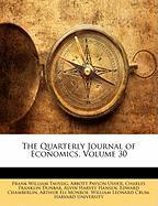 The Quarterly Journal of Economics, Volume 30 - Taussig, Frank William; Usher, Abbott Payson