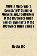 1981 in Multi-Sport Events: 1981 Summer Universiade, Footballers at the 1981 Maccabiah Games, Gymnasts at the 1981 Maccabiah Games