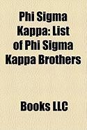 Phi SIGMA Kappa: List of Phi SIGMA Kappa Brothers