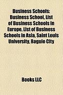 Business Schools: List of Business Schools in Europe