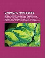 Chemical processes: Haber process, Electrolysis, Vulcanization, Ostwald process, Galvanization, Chemical vapor deposition, Solvation, Electroplating, ... Cracking, Saponification, Crystallization