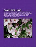 Computer Lists: List of Programmers, List of IBM Products, List of Artificial Intelligence Projects, Index of Computing Articles