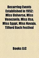 Recurring Events Established in 1952: Miss Venezuela