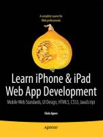 Beginning iPhone and iPad Web Apps: Scripting with HTML5, CSS3, and JavaScript