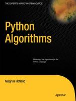 Python Algorithms: Mastering Basic Algorithms in the Python Language (Expert's Voice in Open Source)