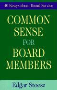 Common Sense for Board Members