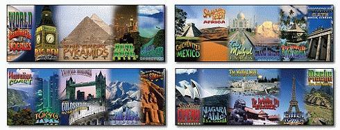 World Landmarks and Locales Topper - Mark Twain Media