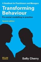 Transforming Behaviour: Pro-Social Modelling in Practice