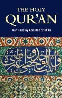 The Holy Qur'an Abdullah Yusuf Ali Translator