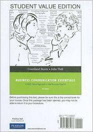 Business Communication Essentials, Student Value Edition