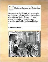 Dissertatio Physiologica Inauguralis, de Invento Galvani, Vu