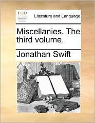 Miscellanies. The third volume. - Jonathan Swift